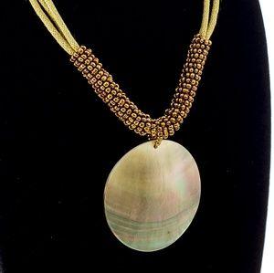 Lia Sophia Necklace Shell + Seed Beads